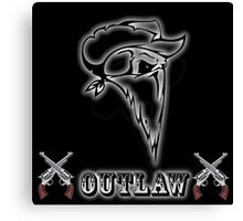 Outlaw with Skull and Guns Canvas Print