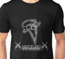 Outlaw with Skull and Guns Unisex T-Shirt