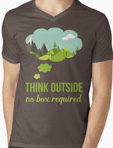 Think Outside No Box Required Walking Hiking T Shirt T-Shirt