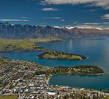 Lake Wakatipu at Queenstown by Werner Padarin