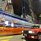 HK Taxi at Sogo by Delfino