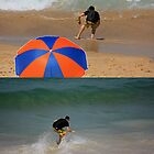 Skimboarding by reflector