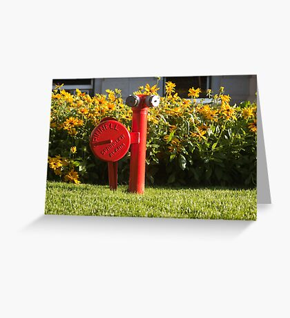 fire and flowers Greeting Card