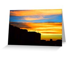 Sunset in downtown Denver Greeting Card