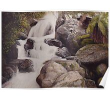 Cascading falls - St Columba (Tasmania) Poster