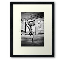Standing with your hand Framed Print