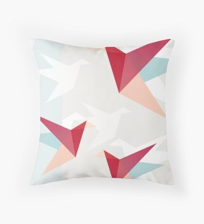 Correct Paper Cranes  Throw Pillow