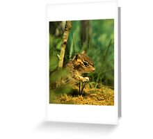 Chipmunk Commando Greeting Card