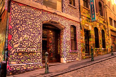 Graffiti in Hosier Lane, Melbourne by Elana Bailey