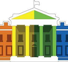 White House LGBTQ Rainbow by Seaweed4