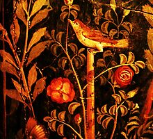 POMPEII COLLECTION NIGHTINGALE WITH RED ROSES by BulganLumini