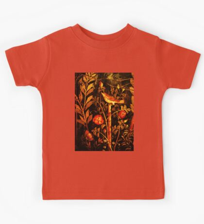 POMPEII COLLECTION NIGHTINGALE WITH RED ROSES Kids Tee