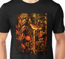 POMPEII COLLECTION NIGHTINGALE WITH RED ROSES Unisex T-Shirt