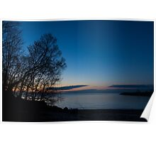 Lake Ontario Blue Hour Poster