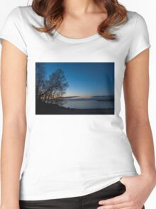 Lake Ontario Blue Hour Women's Fitted Scoop T-Shirt
