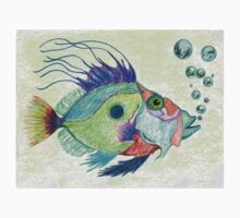 Funky Fish Art - By Sharon Cummings Kids Clothes