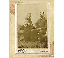 unknown family with the Stotts Family Photographic Print