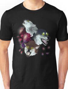 Moon Flower Wolves Unisex T-Shirt