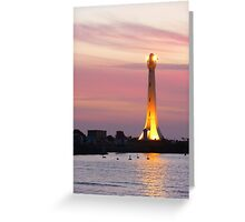 Beaming Into The Night Greeting Card