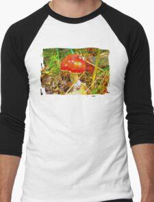 Eat the mushroom and die Men's Baseball ¾ T-Shirt