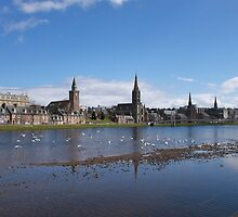 Inverness Spires by Sandy Sutherland
