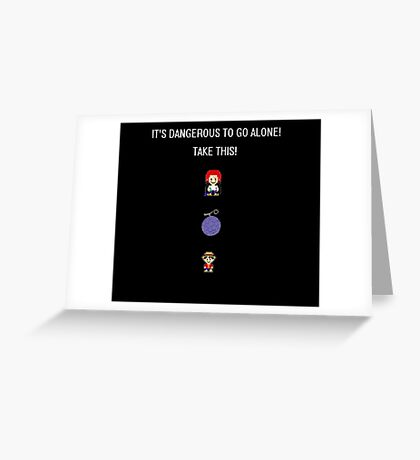 One Piece Dangerous to go Alone Greeting Card