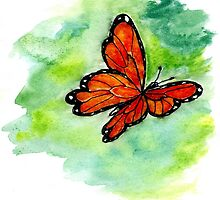 Watercolor Butterfly Design by AnnArtshock