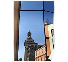 Reflection of Bacardi building, Havana, Cuba Poster