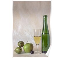 Wine and fruits Poster