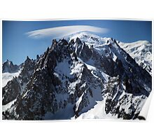 White Cap:  The Summit of Mont Blanc Poster