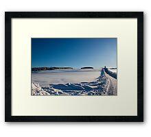 Snowy Aberdeenshire countryside Framed Print
