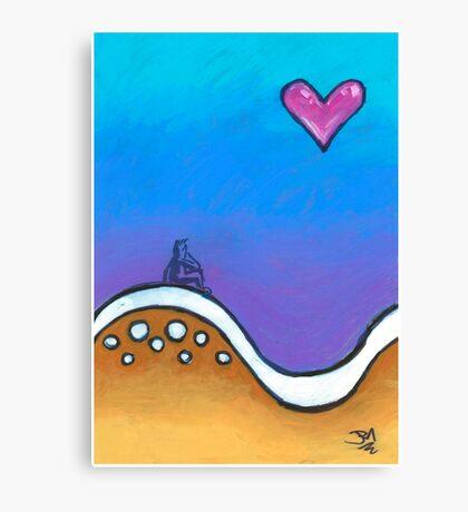 Love, come wash over me Canvas Print