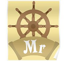 Mr and Mrs MISTER Matching Wedding Honeymoon Cruise Ship Poster