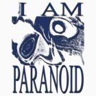 PARANOID blue drawing by MaxSteinwald
