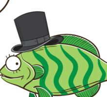 Fish in a hat. Sticker