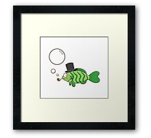 Fish in a hat. Framed Print