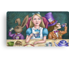 alice with the mad hatter and march hare Canvas Print