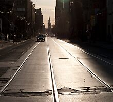 Setting Sun at Adelaide & John by Gary Chapple