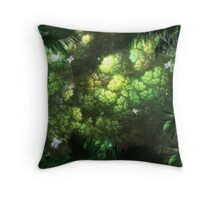 Looking up at a Jungle Canopy Throw Pillow