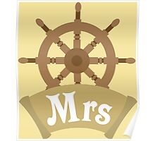 Mr and Mrs MRS Matching Wedding Honeymoon Cruise Ship Poster