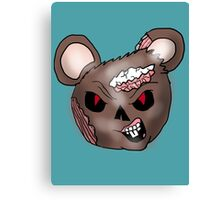 Zombie Mouse Head  Canvas Print