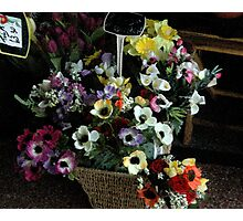 flowers for sale Photographic Print
