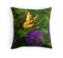 Yellow Swallowtail Throw Pillow