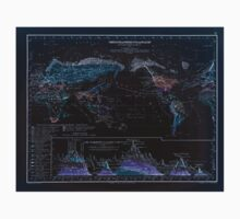 Atlas zu Alex V Humbolt's Cosmos 1851 0170 Climate Regions of the World Inverted One Piece - Short Sleeve