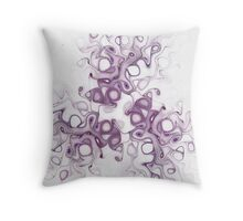 Lilacs and Old Lace Throw Pillow