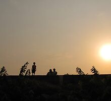 3 generations and the sunset by Tridib Ghosh