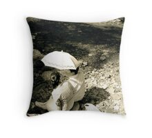Just enough shade... Throw Pillow