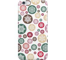 Romantic Snowflake Circles iPhone Case/Skin