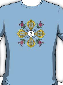 Vajra with Hum,  Om and Lotus Symbols T-Shirt