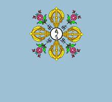 Vajra with Hum,  Om and Lotus Symbols Unisex T-Shirt